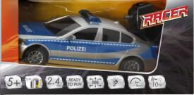 Racer R/C Polizeiwagen mit Licht, 2.4 GHZ, 1:18, Ferngesteuertes Fahrzeug, Länge ca. 27 cm, ab 5 Jahren