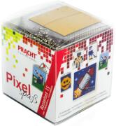 Pixel Bastelset 15 Smiley, Roboter, Eishockeyspieler, Fußballspieler, Rakete