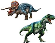 Glow in the Dark Sticker  T-Rex World, sort.
